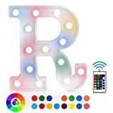 ZRO LED Letter Lights 16 Colors-Changing, 3D