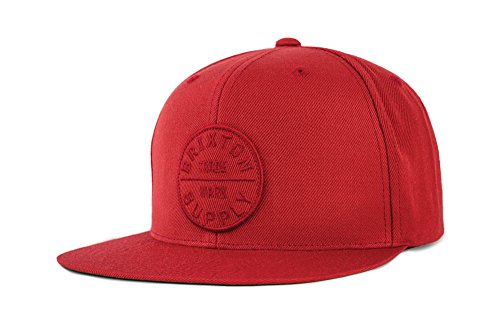 01db7e0bbaa snap-back. Brixton Men s Oath III Medium Profile Adjustable Snapback Hat