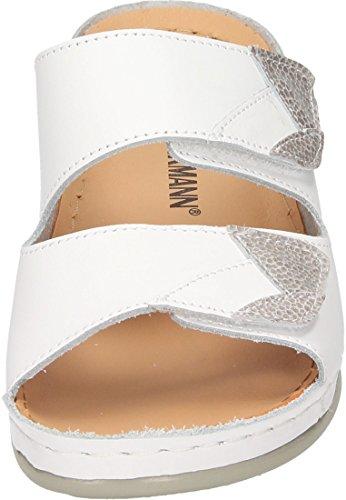 Weiß pantolette Dr Damen 3 Brinkmann Schwarz 701108 1qwO8