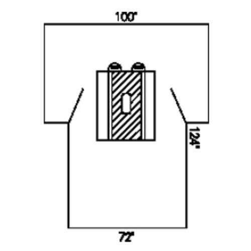 Halyard Health 79235 Laparotomy Drape with Pouches, Non-Sterile, 100'' x 72'' x 124'' (Pack of 15)