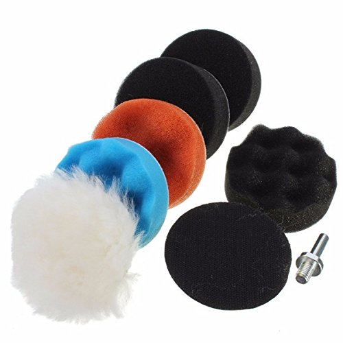 8Pcs 3 Inch Woolen Polishing/Buffing Pad Kit For Car Polisher by BephaMart
