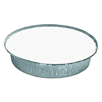 HFA 204630W Round Aluminum Container with Lid, 9-Inch Diameter, 44 Ounce (Case of 250)