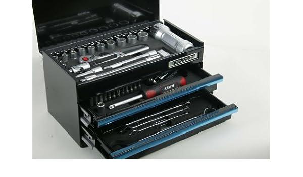 Artesanía caja de metal kravm 25 X 13 X 13 Cm con 59 werzeugen: Amazon.es: Bricolaje y herramientas