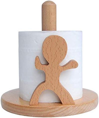 Toiletten-Rolle Toilettenpapier Deutsch Buchenholz Rolle Badezimmer Küche Papiertuch-Papiertuch (Tai-Chi-Kid) Holz Farbe 16x16.5cm Kurzer Abschnitt Xping ( Color : Short Paragraph , Size : 16x16.5cm )