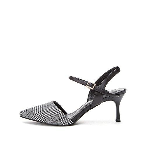 de Verano Zapatillas de S Color de Sandalias de Punta Ocasionales Moda Dulces Sandalias Planas Mujer Sandalias DHG de xItwqXftA