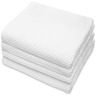 COTTON CRAFT - 4 Pack Euro Spa Waffle Weave Oversized Bath Towels 30x56 - White - 100% Pure Ringspun Combed Cotton - True Luxury Inspired by The Finest European Spas and Resorts - Our Oversized Euro Spa Waffle Weave Bath Towels measure a super generous 30x56 and come in a set of 4. Made from the finest 100% Pure Combed Cotton on the Latest Luxury Towel Looms for a Super Finish and Texture. Inspired by and found in the finest European spas and resorts. - bathroom-linens, bathroom, bath-towels - 41lkezfIb L. SS400  -