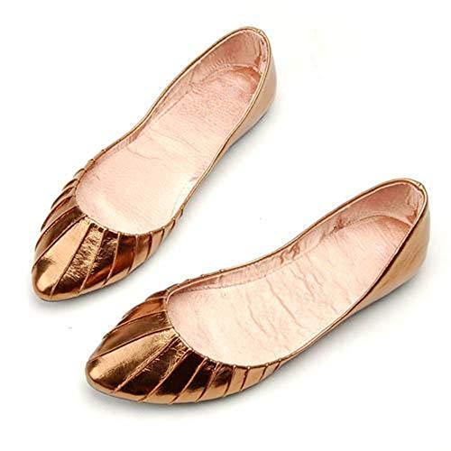 FLYRCX Zapatos de Ocasionales Oficina de de de Baja brown la señoras Zapatos Trabajo Las Planos Embarazadas de Europa Mujeres Las Zapatos Zapatos de cómodos señalaron Simples Boca rKqRArfz