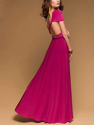 Wrap Infinity Multi Magenta record your Gown Dress Way Women's Convertible CHOiES Strap inspired Dress Maxi fashion FSwPqXRRx