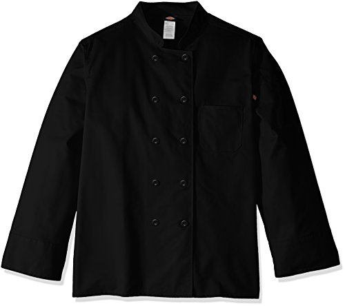 Dickies Chef Women's Classic Coat Plus Size, Black ()