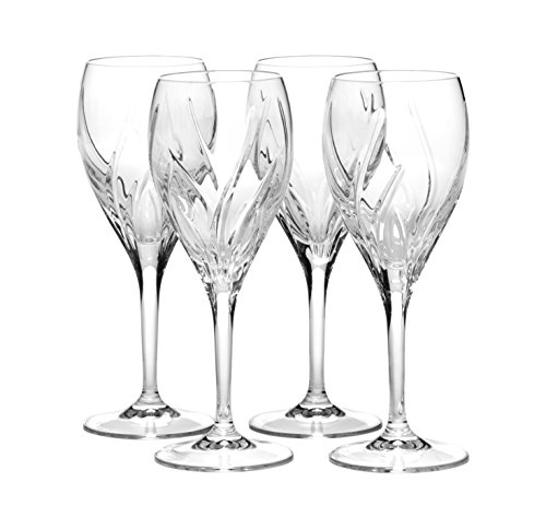 Mikasa Crystal Stemware (Mikasa Agena Crystal Wine Glass, 9-Ounce, Set of 4)