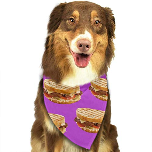SYWY Washable and Long Lasting Bandanas Sandwich Pattern Pet Dog Cat Bandanas Triangle Bibs Pet Scarf Dog Neckerchief Headkerchief Pet Accessories