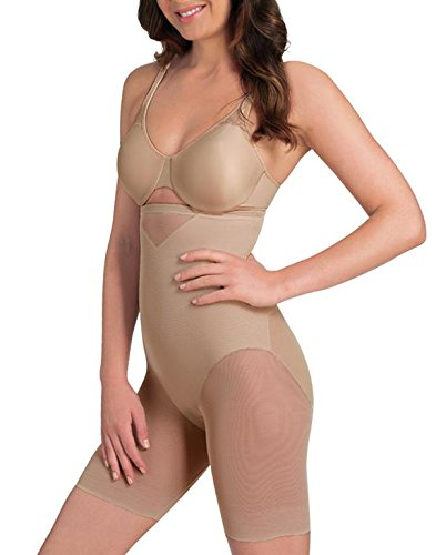 (Miraclesuit Sexy Sheer Extra Firm Control High-Waist Thigh Slimmer, M (Women's 8-10), Nude)