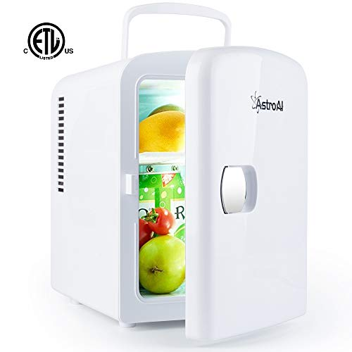 Buy Bargain AstroAI Mini Fridge Portable AC/DC Powered Thermoelectric System Cooler and Warmer 4 Liter/6 Can for Cars, Homes, Offices, and Dorms (White)