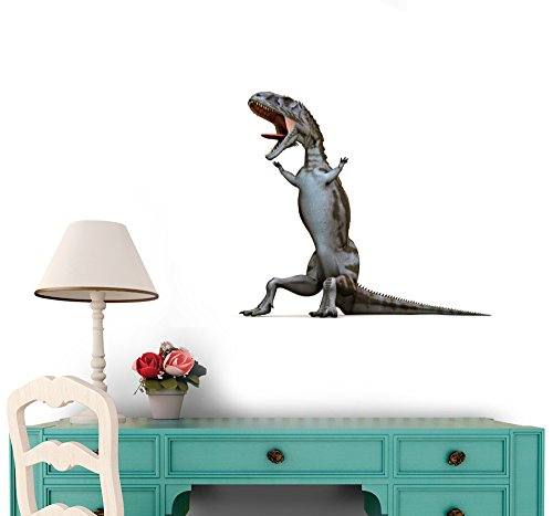 Majungasaurus Peel and Stick Fabric Wall Sticker by Wallmonkeys Wall Decals - 36 Inches W x 22 Inches H