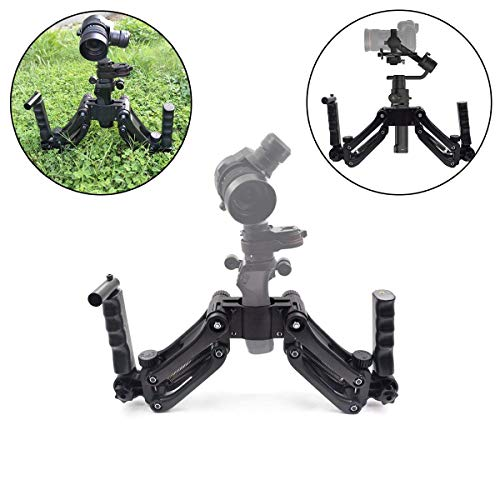 Dual Handle Extension Stand Mount 4 Axis Gimbal Stabilizer for DJI Ronin S Flexible Spring Dual Handle Grip Holder Arm for DJI Osmo, Osmo Plus, Osmo Mobile/Pro/Raw, DJI Osmo 4K -
