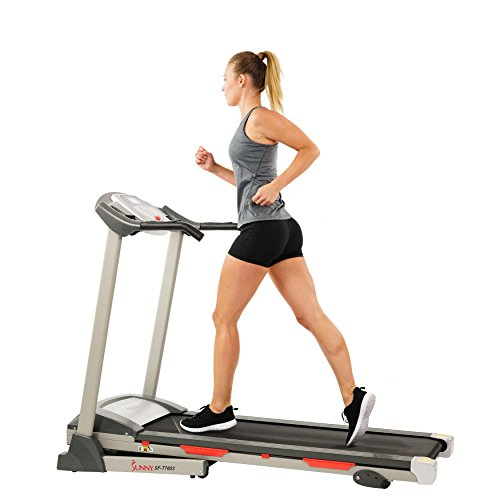 Best Buy! Sunny Health & Fitness Exercise Treadmills, Motorized Running Machine for Home with Foldin...