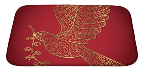Filigree Christmas Cards - Gear New Memory Foam Bath Rug, Filigree Christmas Card, 34x21, 6607504GN