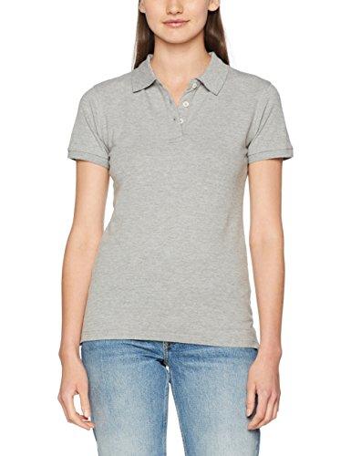 CliQue Premium Shirt, Polo para Mujer Gris (Grey Melange)