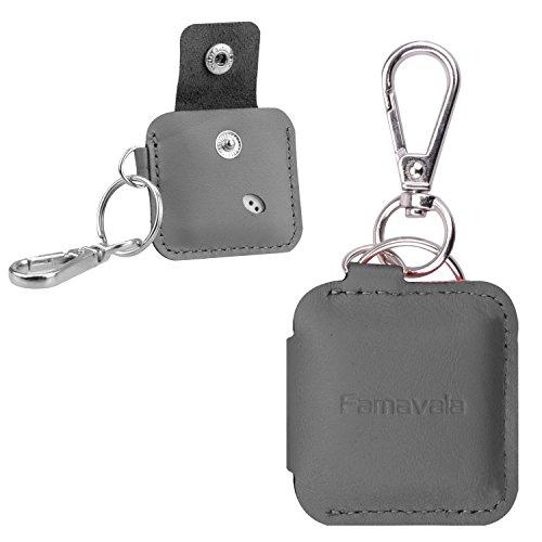 Famavala Genuine Leather Case Cover Sleeve for Tile Mate/Tile Sport/Tile Style/Tile Pro Series Item Tracker Phone Finder (Tile Cover)