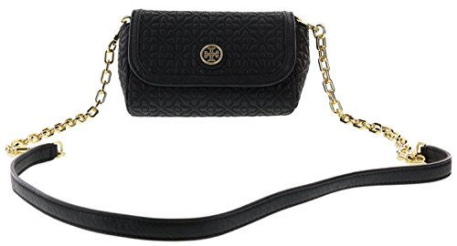 Tory Burch Bryant Quilted Leather Small Crossbody Handbag, Style No. 34029 - Gold Burch Bag Tory