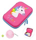iDelta Pencil Case, EVA Pen Pouch Stationery Box Anti-shock for School Students Girls Teens Kids (Pink)
