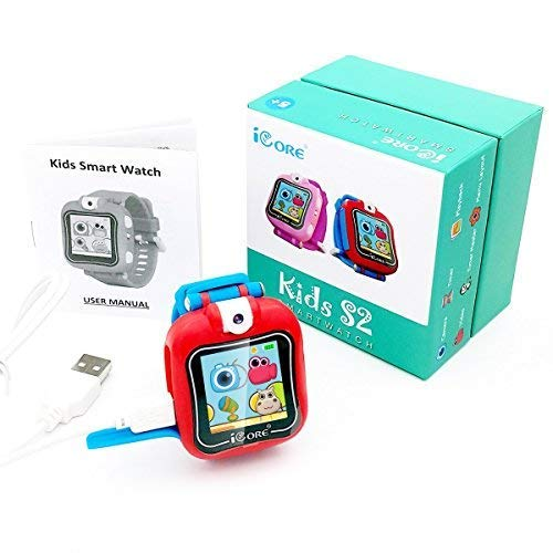 iCore Durable Kids Smartwatch, Electronic Child Smart Watch Video Games, Children Digital Tech Watches, Touch Screen Wearable Watches Learning Timer Alarm Clock Camera for Girls Boys by iCore (Image #7)