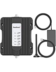 Amazboost Vehicle Cell Phone Signal Booster for Car,Truck,RV,Pickup or SUV,5 Bands Cell Phone Booster for All Canadian Carriers-Bell, Telus, Rogers, Fido & More,boosts 3G 4G LTE Signal ,IC Approved.