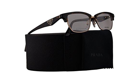 Prada PR56RV Eyeglasses 53-16-140 Havana w/Demo Clear Lens 2AU1O1 VPR56R VPR 56R PR 56RV