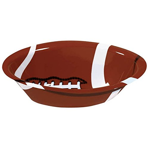 Football Plastic Party Fan Bowl, 14.5