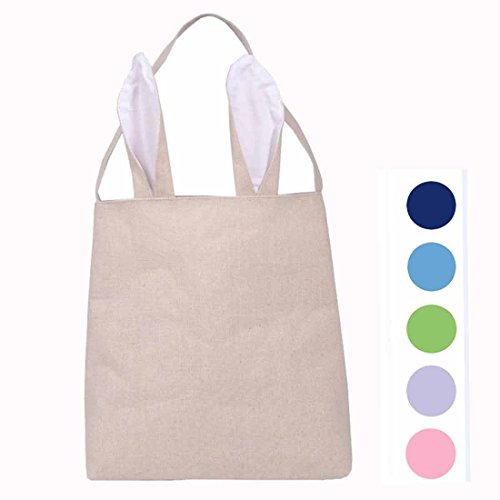 Hantajanss Easter Gift Bag Dual Layer Bunny Ears Design Cott