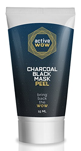 Active Wow Black Mask Peel - Activated Charcoal Blackhead (Black Peel)