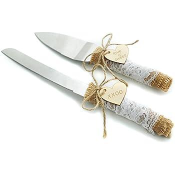 Amazon Com Wedding Cake Knife Rustic Cake Knife