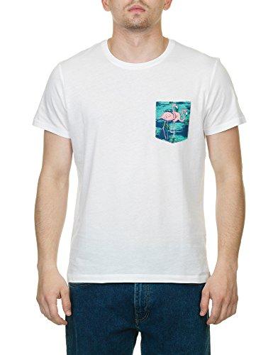 Gant Men's Men's White T-Shirt With Print Pocket in Size L White
