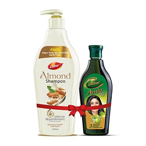 Dabur Almond Shampoo 350ml with Free Amla Hair Oil 275ml