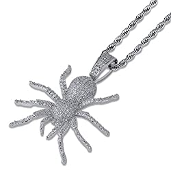 Spider Design Diamond Pendant Chain