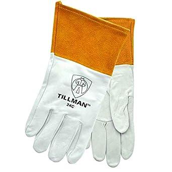 John Tillman y Co 24 CXL kidskin Premium Grade soldadoras TIG guante con Kevlar cosido,