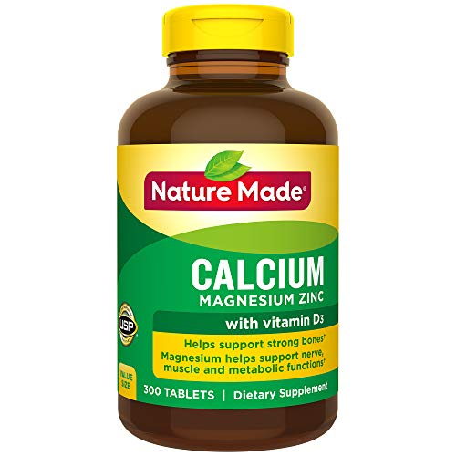Nature Made Calcium Magnesium and Zinc is a calcium supplement scientifically formulated to provide bone support nutrients as well as those that aid in nerve, muscle and metabolic reactions.† Adequate calcium, along with a well-balanced diet, plays a...