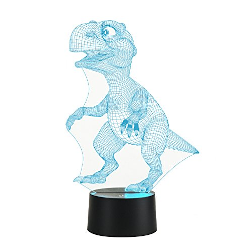 3D Lamp Dinosaur Lamp Led 3D Night Light Touch Table Desk Light 7 Colors 3D Optical Illusion Lights Valentines Day Present