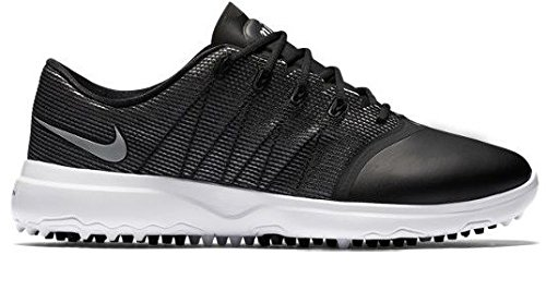 ab6bcbd57ffa Nike Lunar Empress 2 Spikeless Golf Shoes 2016 Women Black White Metallic  Silver Medium