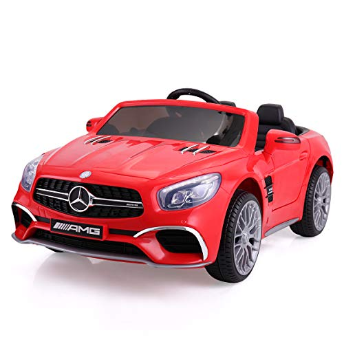 - JAXPETY Mercedes Benz 12V Electric Kids Ride On Car Licensed MP3 RC Remote Control (Red)