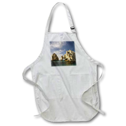 (3dRose Lands End, The Arch, Rock Formation, Mexico - SA13 SWS0218 - Stuart Westmorland - Full Length Apron, 22 by 30-inch, Black, With Pockets)