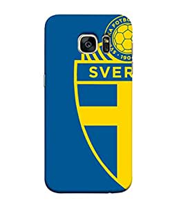ColorKing Football Sweden 05 Blue shell case cover for Samsung S7