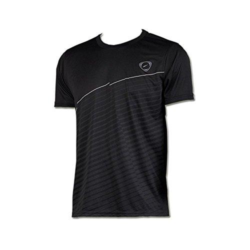 Jeansian Deporte Secos De Manga Corta Camiseta Men Sport Quick Dry Short Sleeve T-Shirt LSL009 Black