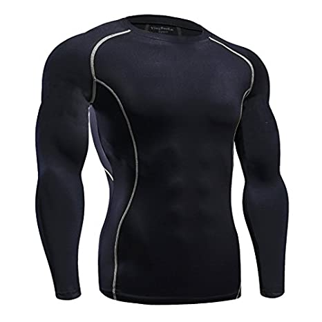 Funycell Men's Compression Long Sleeves Activewear Sports T shirt VL0033