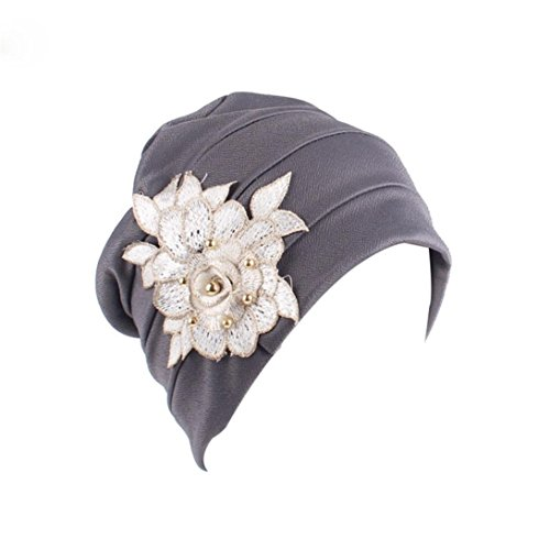 Hongxin Hot Sale Muslim Elastic Turban Cap For Women 2018 Women India Africa Appliques Hat Head Scarf Wrap Cancer Hair Loss Caps For Women (Applique Hat)