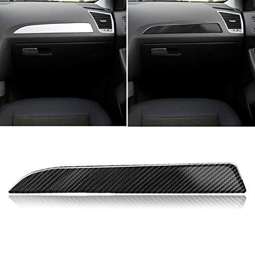 Misszhang-US Carbon Fiber Car Console Control Upper Sticker Interior Decor for Audi A4 A5 B8