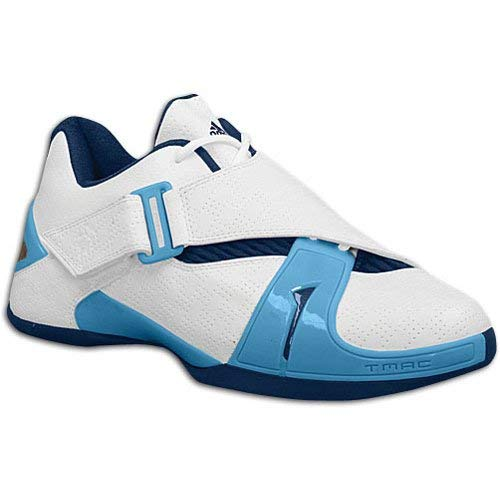 adidas Men's T-MAC 5 Low (sz. 12.0, White/Columbia Blue/Navy) ()
