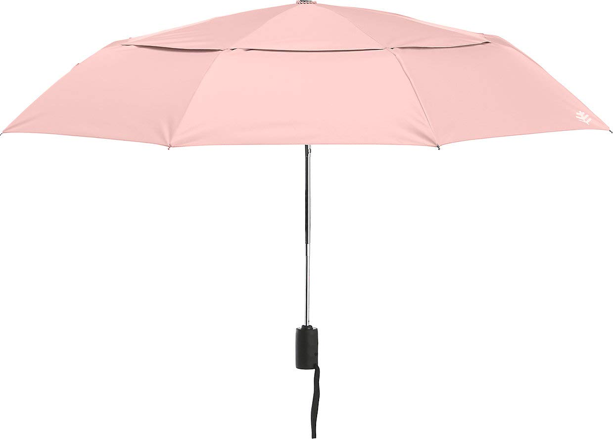 Coolibar UPF 50+ 42'' Titanium Travel Umbrella - Sun Protective (One Size- Light Rose)