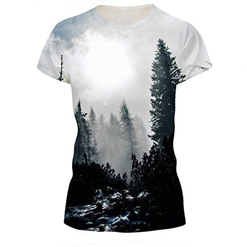 GERGER BO Women's 3D Printing Leisure Sports Short Sleeve T-shirt£¨287 S£ ()