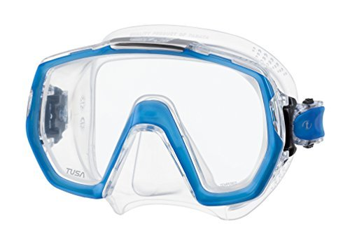 Tusa Freedom Elite Scuba Mask, M-1003 -Fish Tail Blue by Tusa by Tusa